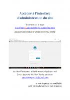 Acceder panneau administration